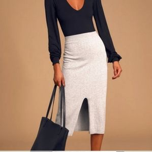 NWT Free People Ribbed Midi Skirt. Size XS